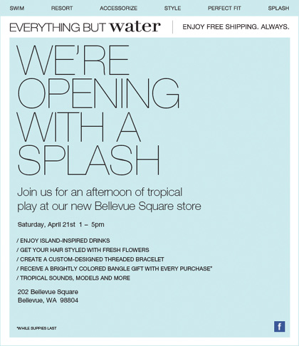 Everything But Water Bellevue Opening