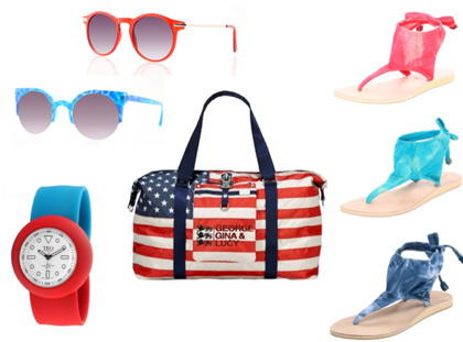 4th of July 2012 Red White and Blue Accessories