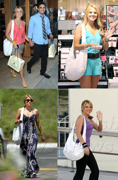 Ali Fedotowsky with the ROMYGOLD Stud Slouch Hobo