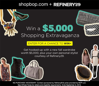 Shopbop Refinery29 Shopping Spree Contest