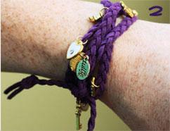 Little Doodahs Vintage Braided Charm Bracelet