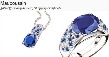 Gilt City Mauboussin Jewelry Certificate