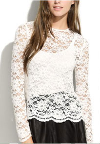 Alexa Chung For Madewell Patrice Lace Top