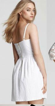 Aqua Seersucker Fit and Flare Dress