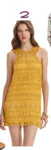 Diane von Furstenberg Liza Crochet Macramé Dress