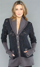 Free People Log Cabin Cardi