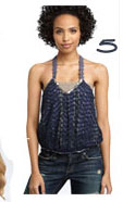 Free People Embroidered Overlay Camisole
