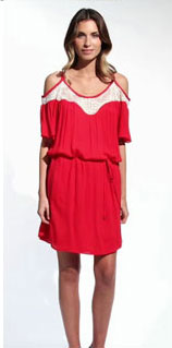 Ella Moss Melody Lace Flutter Dress