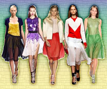 2011 fashion trend: pleats - pleated skirts