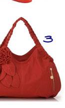 Melie Bianco Shoulder Handbag with Flower