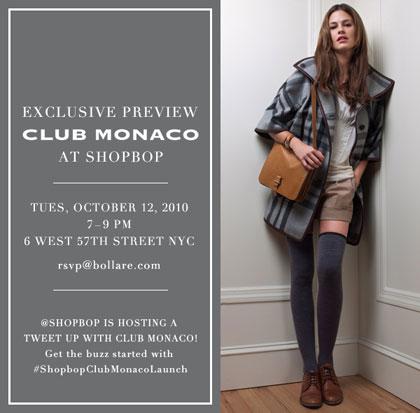 Shopbop Club Monaco Launch