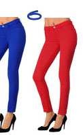J Brand Mid-Rise Colored Skinny Jeans