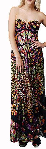 Nicole Miller Mosaic Medley Strapless Dress