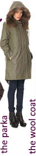 French Connection Military Moment Parka Coat