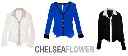 Chelsea Flower Silk Blouses