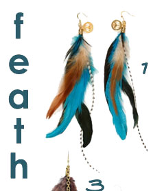 Love Child Feather Cluster Earrings