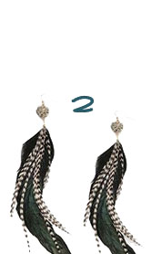 Pyrite Feather Earrings