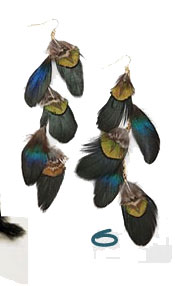Cascading Feather Earrings