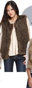 Sanctuary Natalie Faux Fur Vest