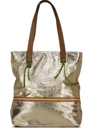 GEORGE GINA & LUCY metallic gold leather tote