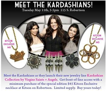 The Kardashians at Kitson with VSA