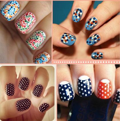 2012 Nail Polish Trends: Polka Dot Nails