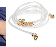 Blee Inara Love White Leather Wrap Bracelet