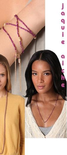 Jacquie Aiche Silk Wrap Braided Bracelet/Necklace